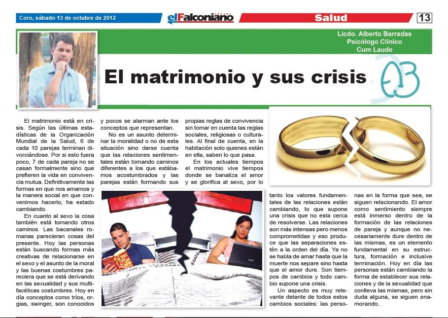 Biblia Matrimonio En Crisis : El matrimonio y sus crisis articulo en falconiano